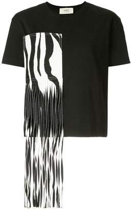 Ports 1961 zebra fringed patch T-shirt