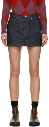 A.P.C. Navy Japanese Denim Miniskirt
