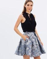 Karen Millen Metallic Double Layer Dress