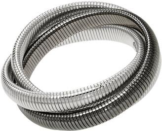 Janis Savitt High Polished Double Rhodium and Gunmetal Triple Cobra Bracelet