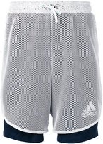 adidas layered fishnet sport shorts