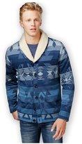 American Rag Mens Log Cabin Shawl Knit Sweater L