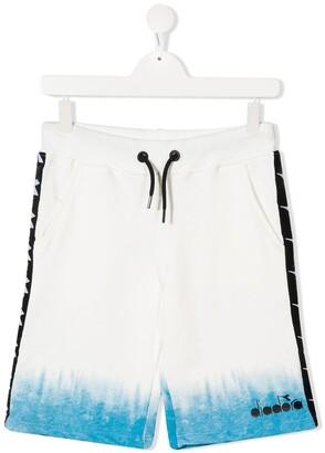 Diadora Junior TEEN cotton logo-print shorts