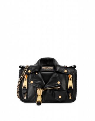 Moschino Nappa Biker Bag Woman Black Size U It - (one Size Us)