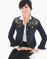 Chico's Embellished Denim Jacket