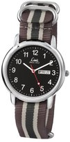 Limit Men's Quartz Watch with Black Dial Analogue Display and Grey Nylon Strap 5470.01