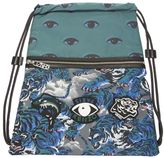 Kenzo Flying Tiger Drawstring Blue Backpack