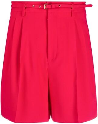 RED Valentino belted Bermuda shorts