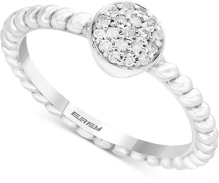 Effy Kidz Children's Diamond Accent Round Cluster Ring in Sterling Silver