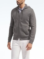 Banana Republic Supima® Cotton Full-Zip Sweater Hoodie