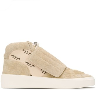 Fear Of God Logo-Print High-Top Sneakers