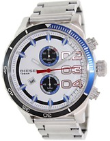 Diesel Men's Double Down 48 DZ4313 Silver Stainless-Steel Quartz Watch