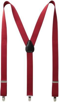 Status Men's Suspenders 11/4 Inch 3 Clip Traditional LookPin Clip Closure