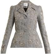 Erdem Galice bead-embellished checked linen jacket