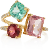 Eden Presley 14K Gold Tourmaline Apatite and Diamond ring