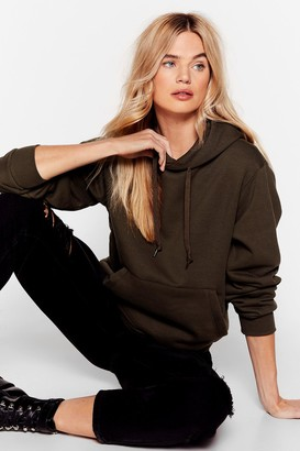 Nasty Gal Womens Day to Day Relaxed Hoodie - Green - S