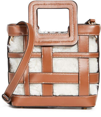 STAUD Mini Plaid Shirley Bag