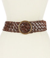 Bed Stu Dreamweaver Wide Woven Leather Belt