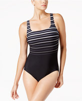 Reebok Winning Streak Printed Active One-Piece Swimsuit