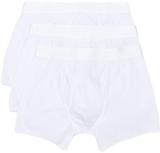 Off-White Three-Pack Logo-Tape Boxer Briefs