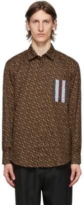 Burberry Brown Monogram Stripe Shirt