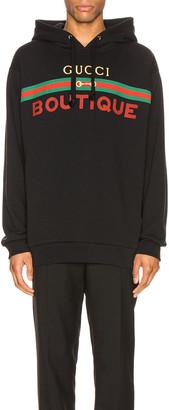 Gucci Pullover Hoodie in Black & Multicolor | FWRD