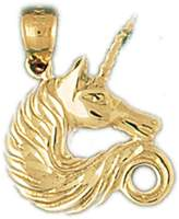 NecklaceObsession 14K Gold Unicorns Pendant Necklace - 20 mm