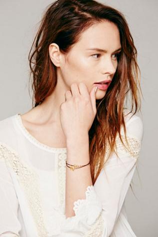 Free People Marida Waxed Cord Bracelet