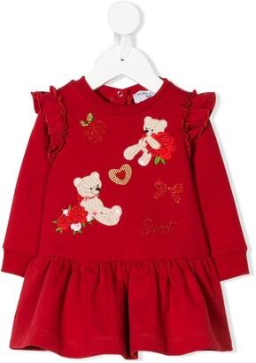 MonnaLisa Teddy Embroidered Dress