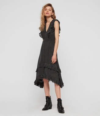 AllSaints Evia Embroidered Dress