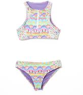 Vigoss Purple Candy Land High-Neck Bikini - Girls