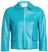 Akris Punto Leather Patch Pocket Jacket