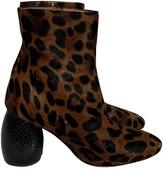 Dries Van Noten Camel Pony-style calfskin Ankle boots