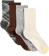 Gold Toe Women's 4-Pk. Madras Plaid Crew Socks