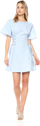 J.o.a. Women's Flare Sleeve Mini Corset Dress