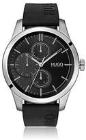 Hugo Boss Logo-strap watch with mixed dial textures