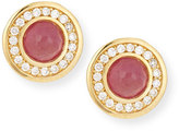 Ippolita 18k Lollipop Mini Composite Ruby & Diamond Stud Earrings