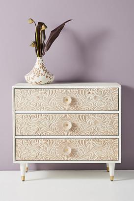 Anthropologie Gulliver Three-Drawer Dresser By in White Size ALL