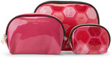 Adrienne Vittadini Set of 3 Dome-Shaped Printed Cosmetic Bags