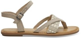 Toms Oxford Tan Heritage Canvas Women's Lexie Sandals