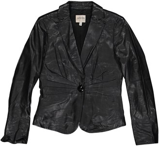 Armani Collezioni Black Leather Jackets