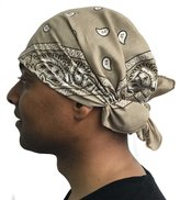 Uptown Girl Headwear Mens Motorcycle Bandana Classic Paisley Design Pre Tied Fitted