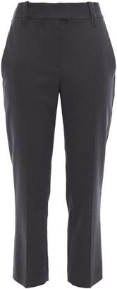 Brunello Cucinelli Cropped Cotton-blend Twill Slim-leg Pants