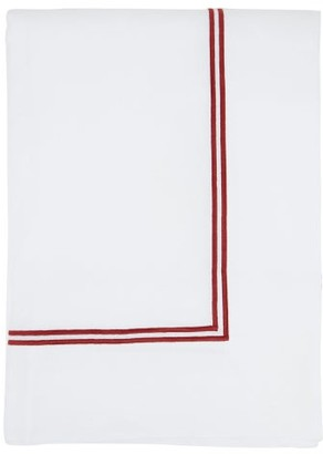 Angela Wickstead - 348cm X 240cm Embroidered Linen Tablecloth - White Multi