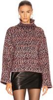 John Elliott Wool Jacquard Turtleneck Sweater in Black & Highlighter | FWRD