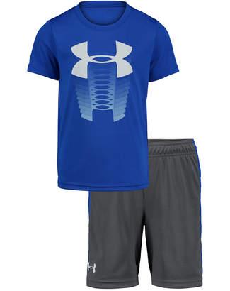 Under Armour Toddler Boys 2-Pc. Logo-Print T-Shirt & Side-Stripe Shorts Set