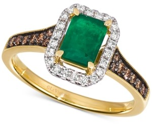 LeVian Le Vian Costa Smeralda Emerald (5/8 ct. t.w.) & Diamond (1/3 ct. t.w.) Ring in 14k Gold