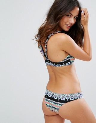 Raisins Barbados Bound Frill Strap Bikini Top