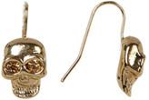 Betsey Johnson Crystal Skull Drop Earrings