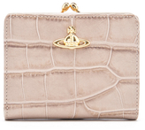 Vivienne Westwood Women's Royal Oak Croc Leather Wallet with Coin Pocket Taupe
